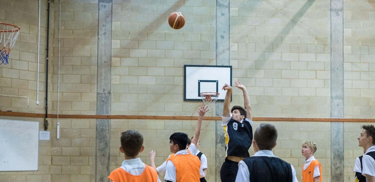 Basketball Game at St Chris