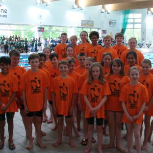Junior Swim Team at St Chris