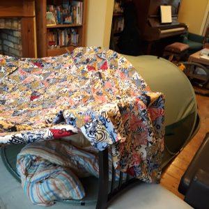 den made of blankets