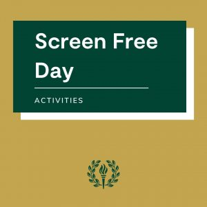 screen free day activities graphic