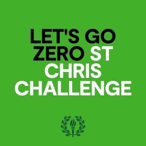 Let's go zero St Chris challenge logo