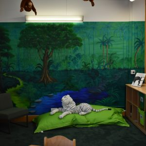 jungle area in new school library