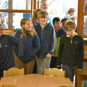 new school library reveal to pupils