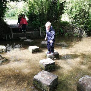 stepping stones at Ashwell Springs
