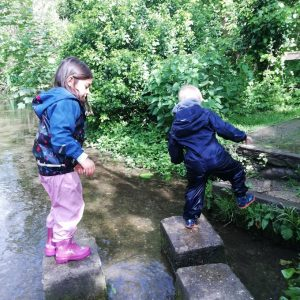 Ashwell Springs stepping stones