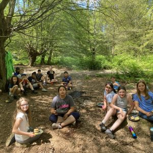 school camping trip barbeque
