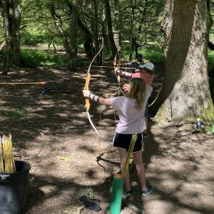 Children trying our archery