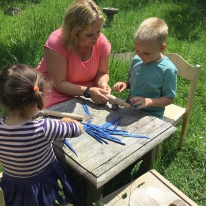 children making clay models